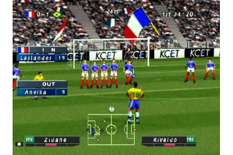 ISS Pro Evolution: PS1 Gameplay - France vs. Brazil - YouTube