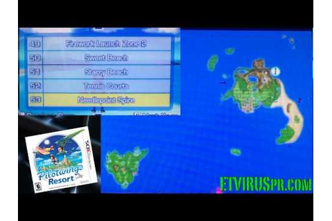 3DS Pilotwings Resort All Loactions on Map (Nintendo 3Ds ...