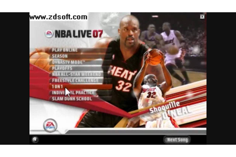 NBA Live 07 *Game Play* - YouTube