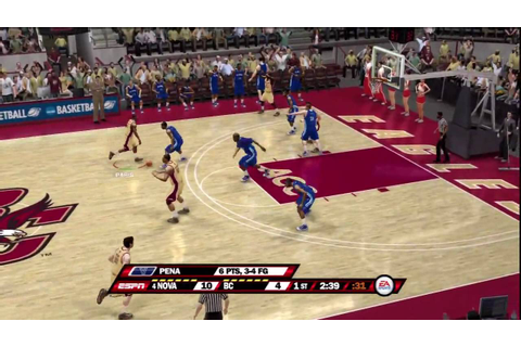 NCAA Basketball 10 (PS3) Villanova vs. Boston College (1st ...