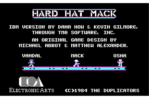 Hard Hat Mack | Old MS-DOS Games | Download for Free or ...