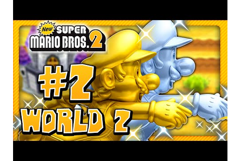 New Super Mario Bros. 2 - World 2 (1/2) (2 Player) 100% ...