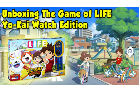 Unboxing Yo-Kai Watch Game of LIFE Edition - YouTube