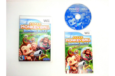 Super Monkey Ball Banana Blitz game for Wii (Complete ...