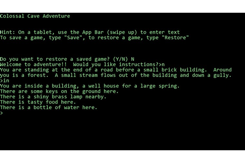 Colossal Cave Adventure app for Windows in the Windows Store
