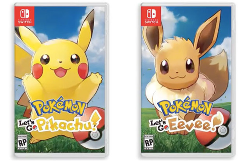 Pokemon Let's Go Pikachu and Eevee! Nintendo Switch 2018 ...