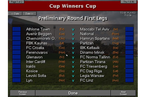Championship Manager 96/97 Download - Old Games Download