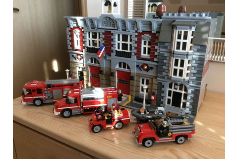 Lego Fire Brigade 10197 Super size double fire station ...