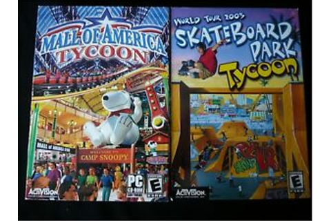 Mall of America Tycoon & Skateboard Park Tycoon (PC, 2004 ...