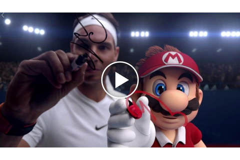 Rafael Nadal plays with Mario in new online tennis game