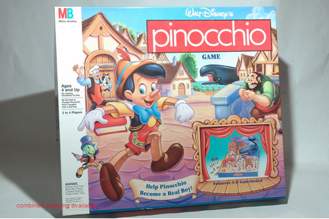 Pinocchio Board Game from Milton Bradley 1992 by ...