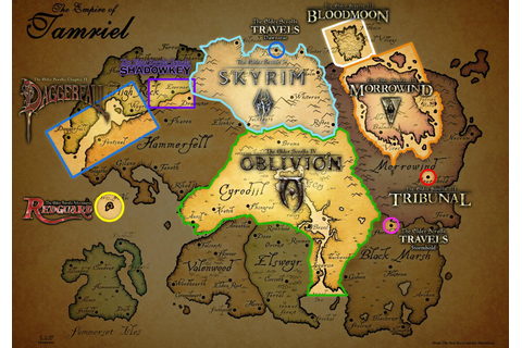 Map coverage of all Elder Scrolls games (updated ...