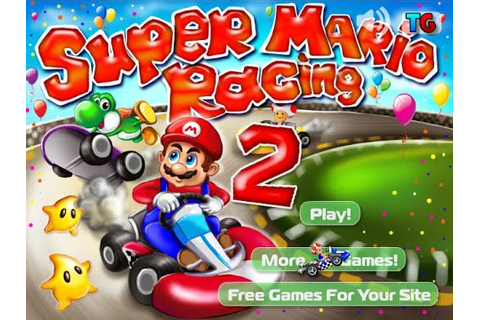Super Mario Racing 2 Game, Cartoon Game For Kids - YouTube