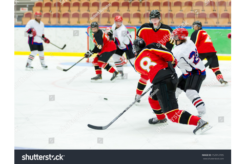 Ice Hockey Game Stock Photo 152912705 : Shutterstock