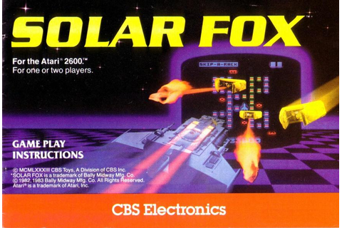 Atari 2600 VCS Solar Fox : scans, dump, download ...