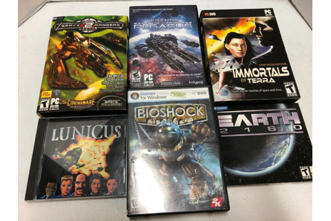 Science Fiction PC Game Lot of 6 Lunicus, Bioshock, Earth ...