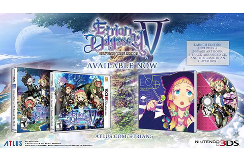 Etrian Odyssey V: Beyond the Myth Out Now For Nintendo 3DS ...
