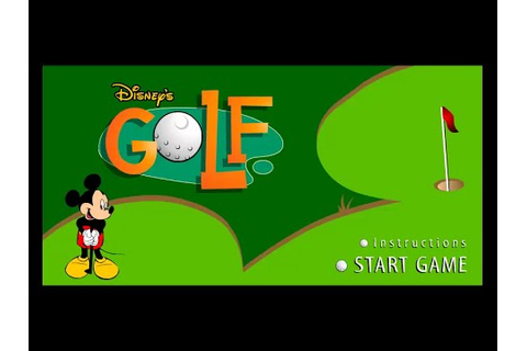 Disney's Golf - Mickey and Friends Playing Golf - Mickey ...