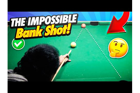 Pool Lessons - The Impossible Bank Shot! Supercharge Your ...
