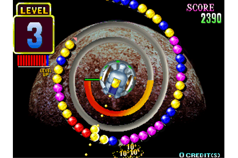 Puzz Loop arcade video game by Mitchell (1998)