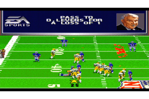 Madden NFL '97 SNES Gameplay HD - YouTube