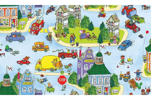 Richard Scarry Fabric Busytown On the Move by ...