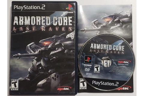Armored Core Last Raven Game, Box, Manual | Playstation 2