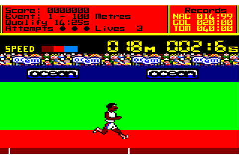 Amstrad Abandonware :: Game | Daley Thompson´s Decathlon ...