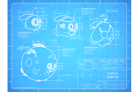 Zombie Bunnies Blueprint Tease by mjeffrey on DeviantArt