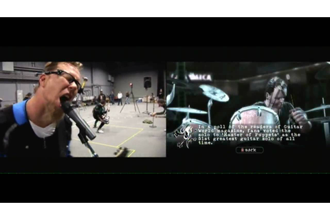 [HD] Guitar Hero: Metallica Motion Capture vs In Game Take ...