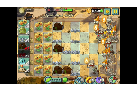 Plants vs Zombies 2 Walkthrough Part 19 (IOS) Pyramid Of ...