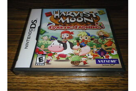 Harvest Moon Frantic Farming Nintendo DS Game New Sealed ...