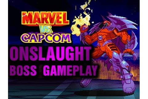 Marvel vs Capcom PSX - Onslaught Game play - YouTube