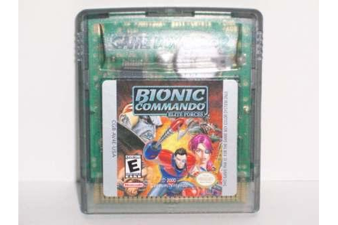 Bionic Commando: Elite Forces - Gameboy Color Game