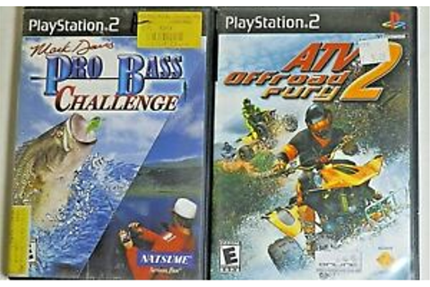 PS2 Mark Davis Pro Bass Challenge Game And ATV2 Off-Road ...