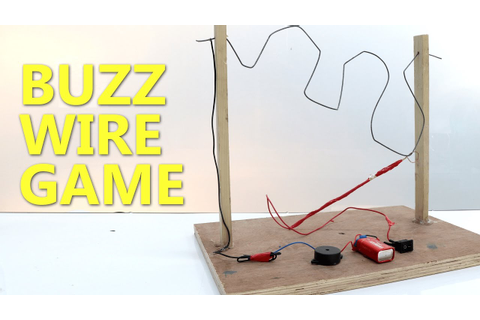 How to make BUZZ WIRE GAME for Kids - YouTube