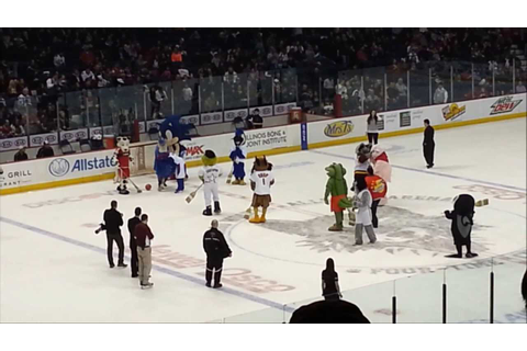 Chicago Wolves Mascot Broomball Game 2013 - YouTube