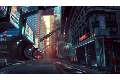 Sci-Fi City Alley - Game Art - YouTube