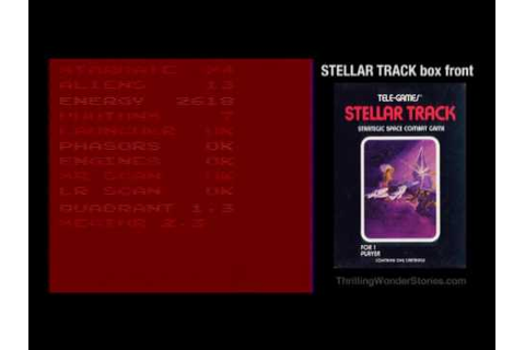 Stellar Track (Atari 2600) Walkthrough and History - YouTube