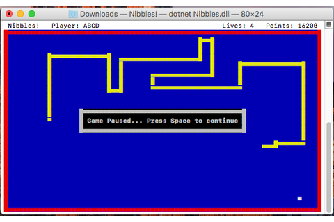 GitHub - kpreisser/Nibbles: A simple, console-based snake ...