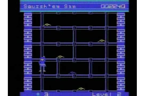 Squish 'Em Sam (Colecovision) gameplay footage - YouTube