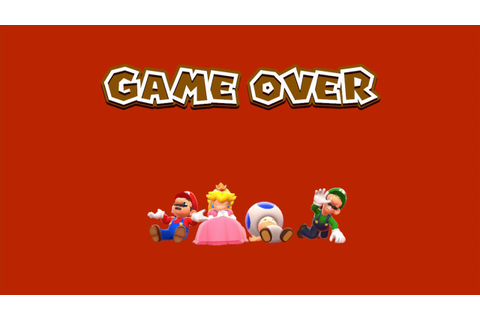 Super Mario 3D World- The Elusive Game Over Screen [4 ...