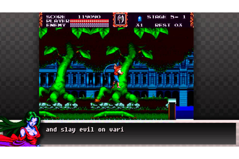Castlevania the new generation (bloodlines) for Mega-Drive ...