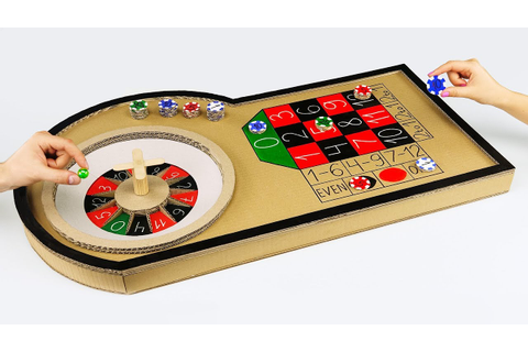 How to Make Mini Casino Roulette Game from Cardboard at ...