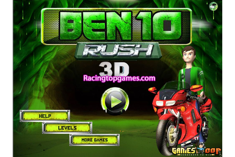 Welcome to Ben 10 Rush 3D Racing Game. This is a Amazing ...