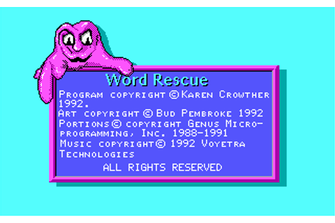 Word Rescue - My Abandonware