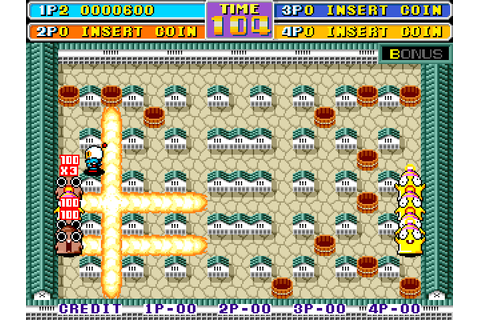 Bomber Man World (1992) Arcade game