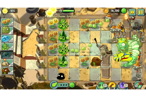 Pyramid of Doom Level 14 Pea Pod's Failed party PvZ2 ...