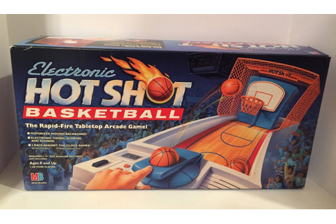 Vintage Electronic Hot Shot Basketball Game Complete 1990