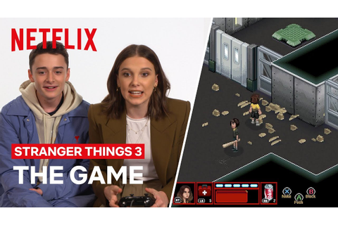 SPOILER ALERT | Cast Try Stranger Thing 3 Video Game for ...